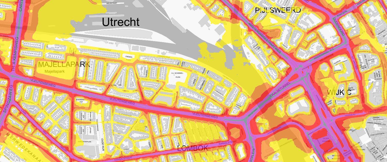 Geluidsbelasting Utrecht als gevolg van verkeer