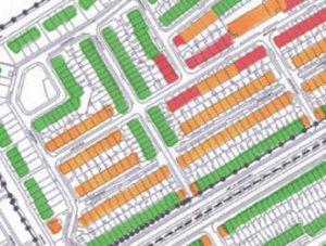Parkeerdruk in een wijk